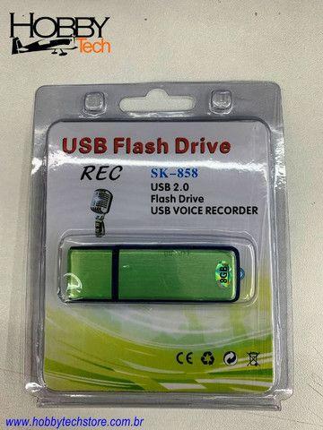 Gravador de Voz USB Pen Drive 8GB SK-858 - Novo - Foto 4