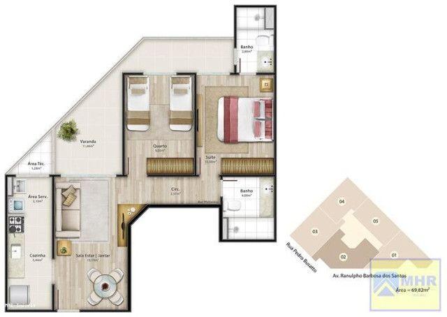 Apartamento a venda em Jardim Camburi 2 quartos 1 suíte (código:PL0011) - Foto 17