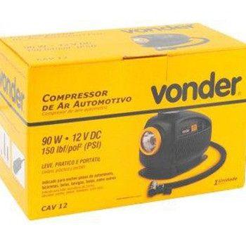 Mini Compressor de Ar 12v CAV12 Vonder - Foto 4