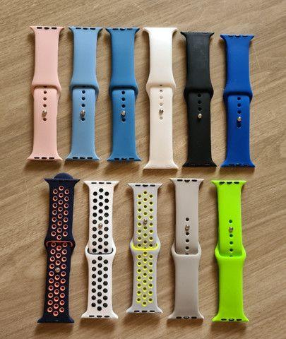 Pulseira de silicone smartwatch iwo apple watch 42mm 44mm 38mm