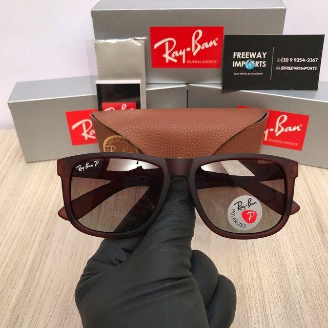 Óculos de sol Ray ban RB4165 marrom polarizado  - Foto 5