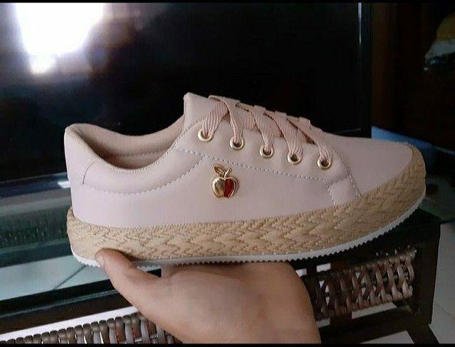 Sapatos In Confort ( Solado Palha Feminino ) - Foto 4