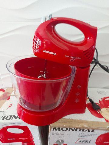 Batedeira Mondial Pratica Due Red , 02 Tijelas , Nova  - Foto 4