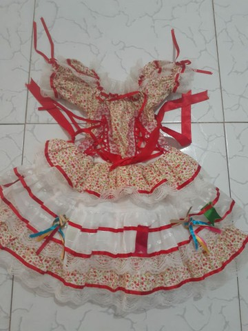 Vestido quadrilha 50reais os 2 - Foto 2