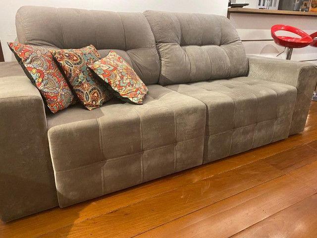 Sofá seminovo com chaise - Foto 4