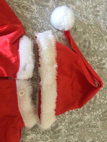 roupa de papai Noel infantil  - Foto 3