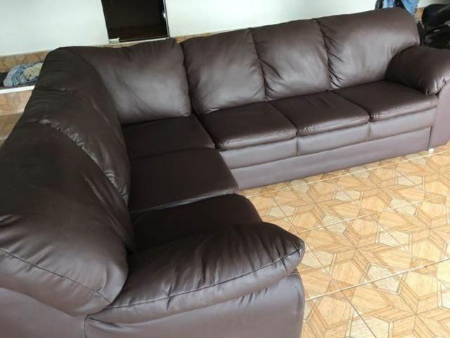 Sofa de canto courino semi novo