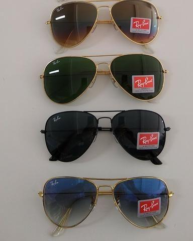 6885af47f222e Óculos Ray-ban Aviador Cores Lentes Cristal - Bijouterias, relógios ...