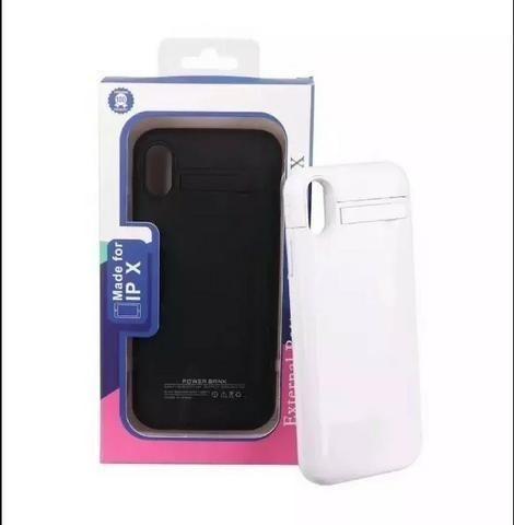 Capa Carregadora Para Iphone X Power Bank Bateria Externa - Foto 2