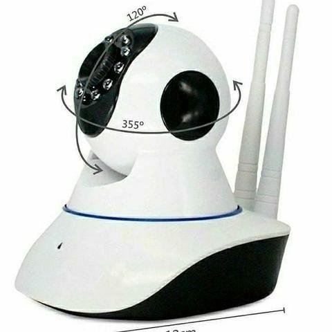 Câmera IP WIFI Wireless Filma Com Controle No Seu Celular