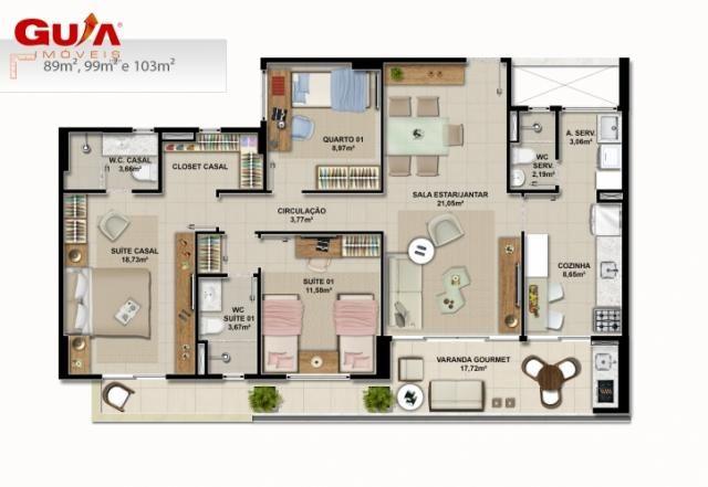 Apartamentos novos com 03 quartos a venda no cambeba - Foto 8