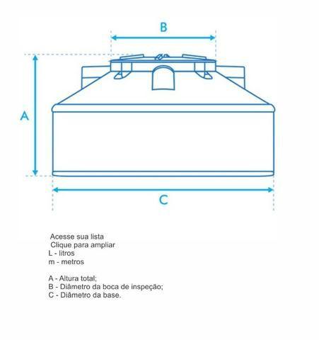 Tanque Reservatório em Polietileno - FortLev 10.000L e 15.000L - Foto 3