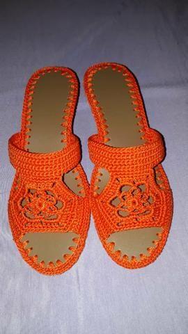 Bolsa e sandália em crochê - Foto 2