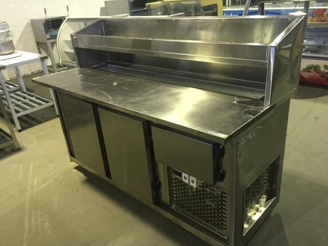 Balcão frigorifico condimentador, com cubas refrigeradas, pizzaria/hamburgueria - Foto 3