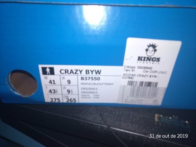 Adidas crazy byw 41 br 9,5 usa - leia a descrição antes - Foto 5
