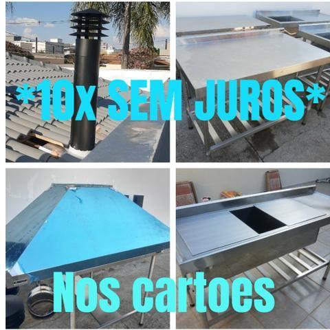 10x SEM JUROS* Coifas, mesas, pias, bancadas em inox