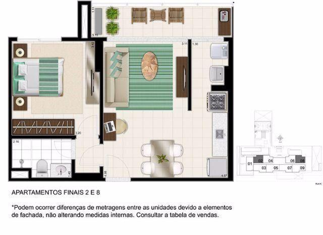 Apartmento 01 quarto com suíte, Res. K Apartments, St Oeste - Foto 12