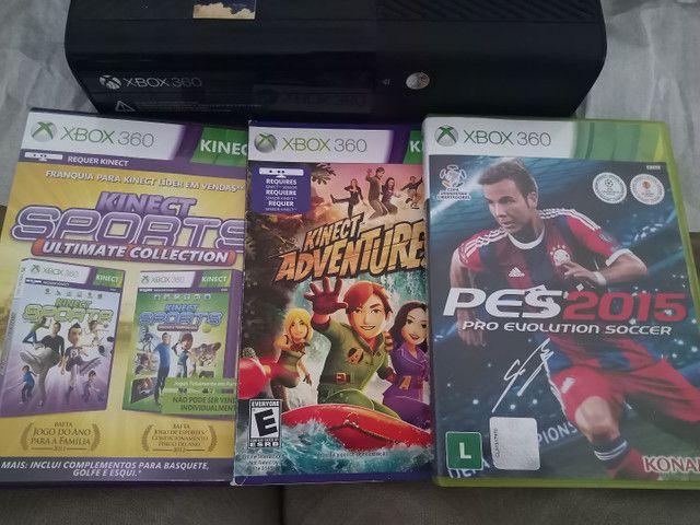 Xbox 360 com jogos originais - Foto 2