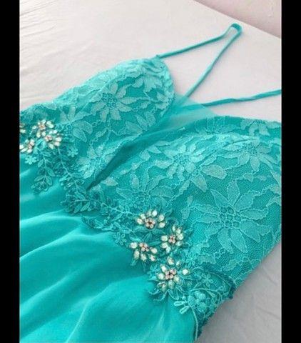Vestido para festa (ciano/verde água/turquesa) - Foto 2