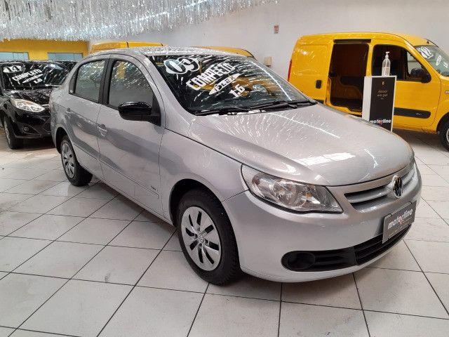 Volkswagen Voyage 1.6 Trend 4p Flex 2009 Prata Completo Muito Novo Doc OK
