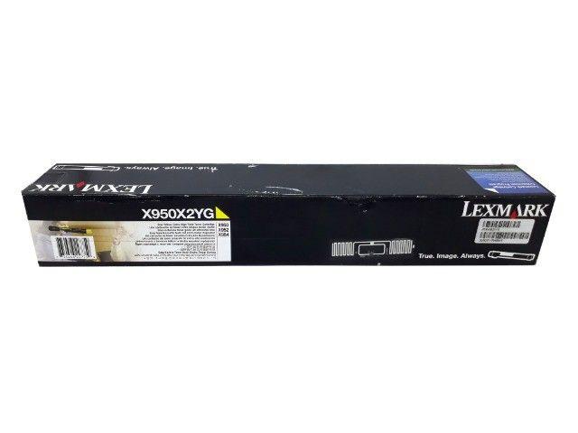 Toner Lexmark X950X2YG Yellow Original Novo