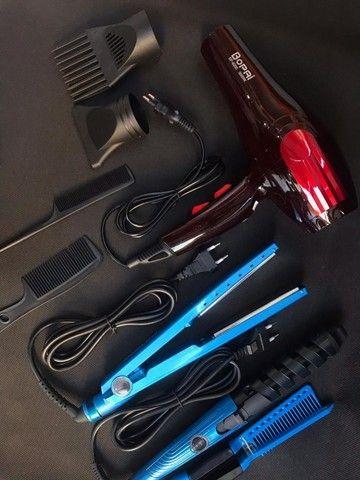 kit prancha + secador + babyllis