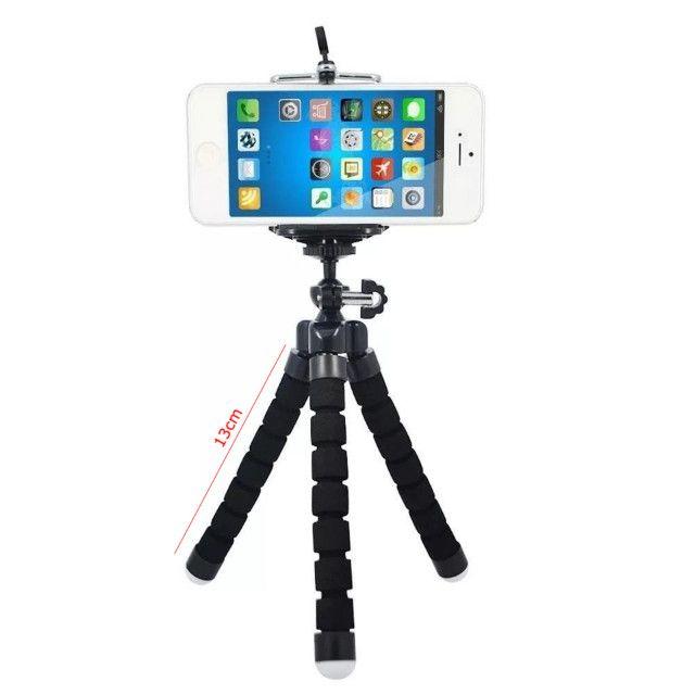 Tripé Suporte Flexível  Para Celular Camera MiniPod Selfie - Foto 4