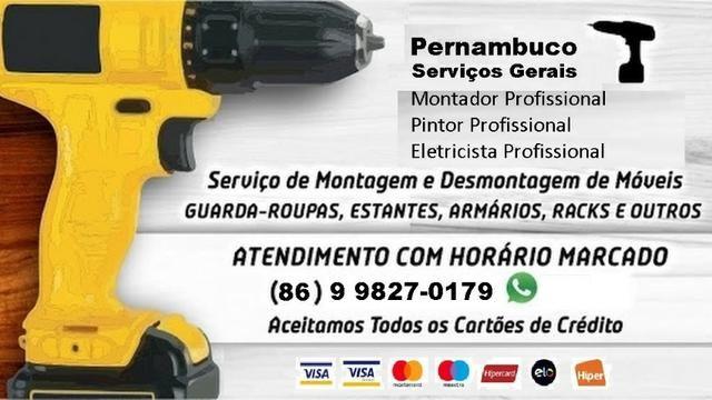 Montador e serviços gerais domesticos