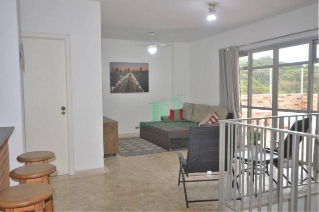 Cobertura na praia, confortável, 3 dormitórios sendo 1 suíte, 2 vagas, pitangueiras, guaru - Foto 14