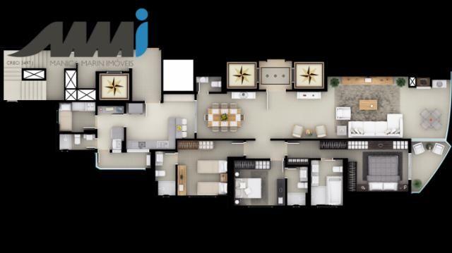 Nothing hill - apartamento 3 suítes com 180m em balneário ca - Foto 14