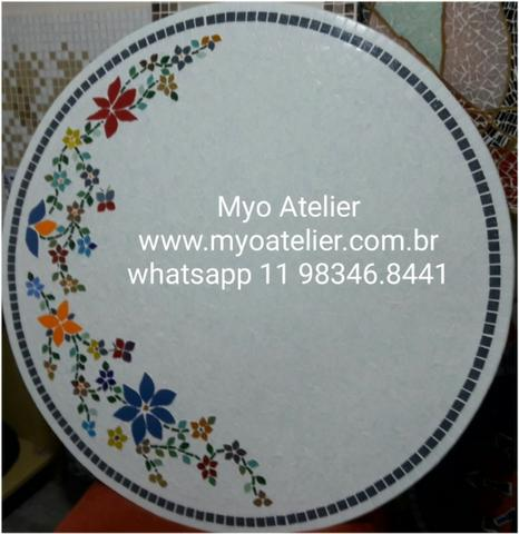 Mandala para piso, parede, piscina, rosa dos ventos, tapete mosaico - Foto 2