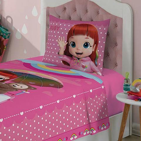 136a33f320 Jogo de Lençol Rainbow Ruby Com 2 peças - Artigos infantis - Vale ...