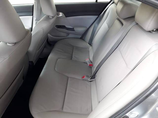 Honda 2016 Civic 2.0 lxr Automatico completo multimídia cinza único dono confira - Foto 10