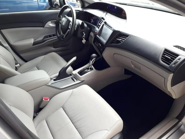 Honda 2016 Civic 2.0 lxr Automatico completo multimídia cinza único dono confira - Foto 9