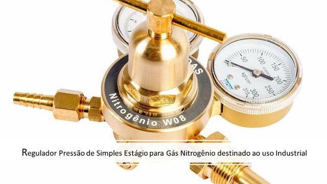 Regulador de Pressão 180psi + Cilindro 7L Nitrogênio Refrigeração Novo - Foto 6