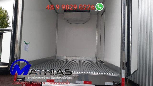 Baú frigorífico 3.50m seminovo modelo remanu Mathias implementos - Foto 3