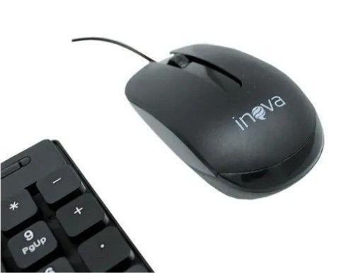 Kit Teclado E Mouse Com Fio Usb Cabo 1,5m 1200 dpi- 8089 - Foto 2