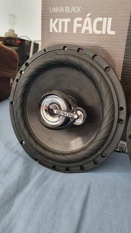 Alto falante 6 polegadas Bravox Black 160w RMS, novo! Forte - Foto 6