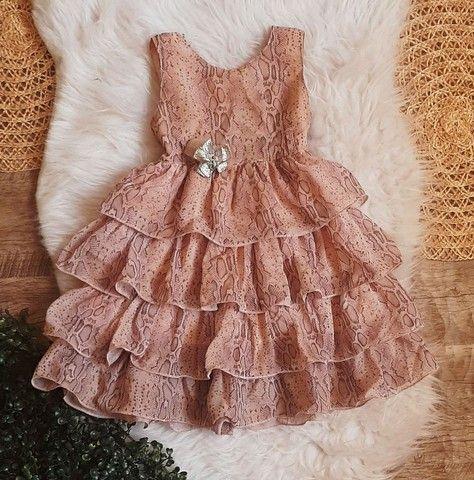 Vestido de festa infatil