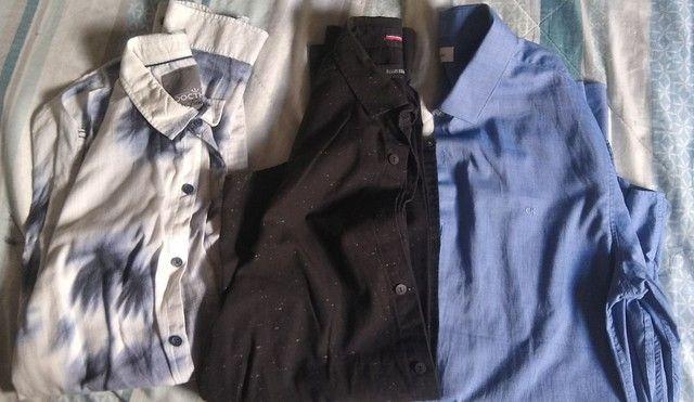 Camisas originais tamanho P ( Calvin Klein, Ellus, Docthos) - as 3 peças R$ 100,00