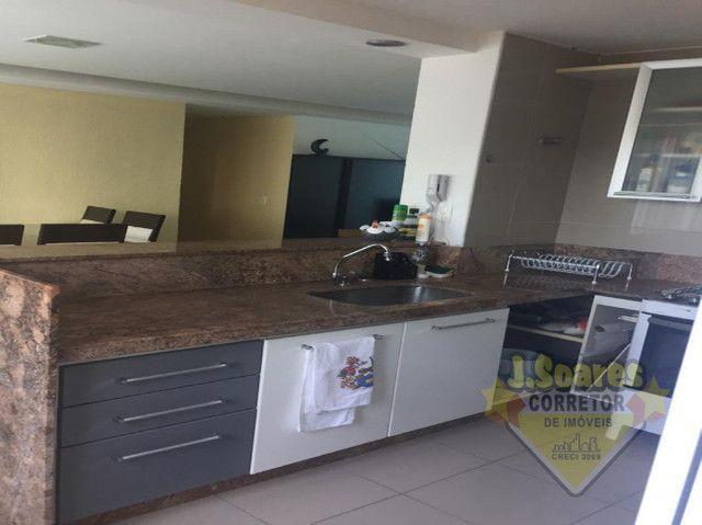 Ponta de Campina, Mobiliado, 4 suítes, 206m², R$ 5000 C/Cond, Aluguel,Apartamento,Cabedelo - Foto 7