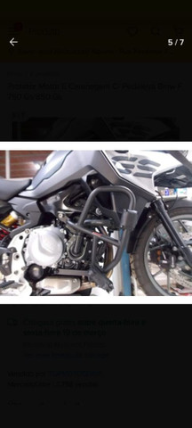 Vendo protetor de motor e carenagem c/pedaleira BMW F750 Gs/850 Gs - Foto 4