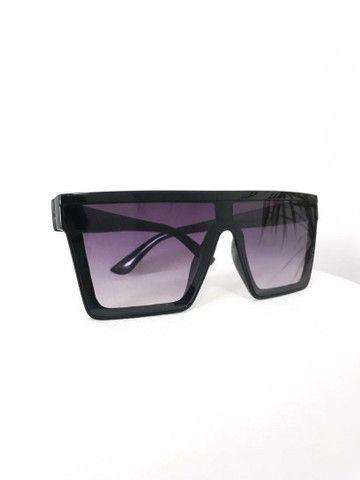 Óculos de Sol Máscara Quadrado Proteção Uv400  - Foto 3