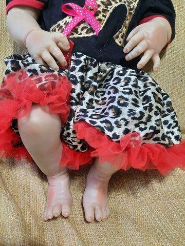 Bebê Reborn Menina de Silicone - Bebê Reborn Realista<br> - Foto 5