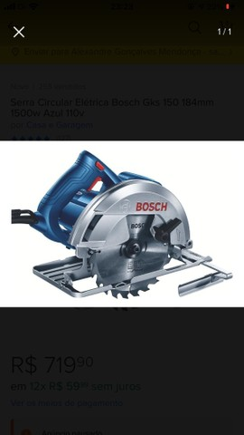 Serra circular Bosch 1500w