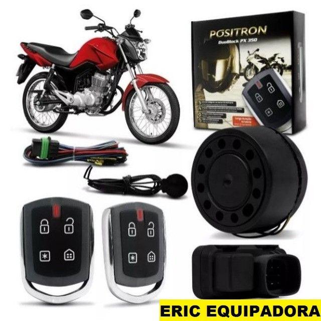 Alarme Positron Moto -  Duoblock Pro 350 - Com sensor de Presença - Instalado Me Liga