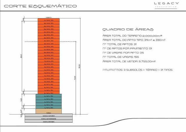 Apartamento à venda no Legacy Condominium com 4 suítes, com 311,00m² por R$ 3.795.000,00 n - Foto 6