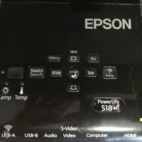 VENDO Projetor Epson Powerlite S18+ 3400 Lumens