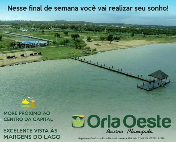 Lotes planejados as margens do lago de Palmas frente