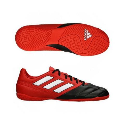 ef6db260a6b04 Chuteira Futsal Adidas ACE 17.4 IN vermelha e preto TM 44 - Roupas e ...